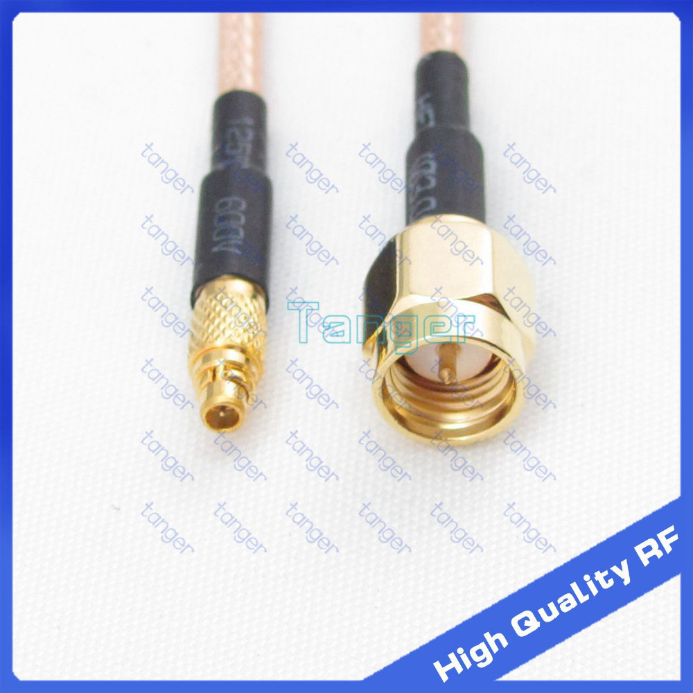 Tanger RF straight connector MMCX male plug to SMA male plug with 20cm 8in RG316 RG-316 RF Coaxial Pigtail Jumper Low Loss cable<br><br>Aliexpress