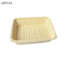 ASFULL Handwork Wicker Bread basket fruit food basket for kitchen and dining room living room kitchen use storage free shipping(China)