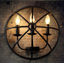 Loft Style Iron Candle Wall Lamp Cafe Shop Decoraction Light Bar Light Free Shipping(China)