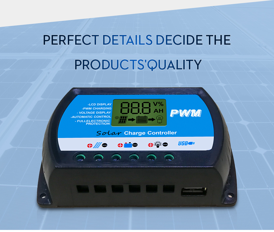 EASUN POWER Solar Charge Controller 30A 20A 10A Voltage Regulator ICharger PWM 24302010-R DES-5