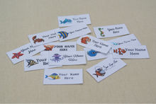 42 Marine Creature Logo Labels - Organic Cotton Personalized Tags - Iron On  Name Tags