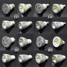 E27 E14 GU10 MR16 LED COB Spotlight Dimmable 6w 9w 12w 15w Spot Light Bulb high power lamp AC DC 12V or 85-265V(China)