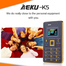 AEKU K5 Card Mobile Phone 5.5mm Ultra Thin Pocket Mini Slim Card Phone 0.96 inch  QWERTY Keyboard 2G GSM Card Child Cell Phone