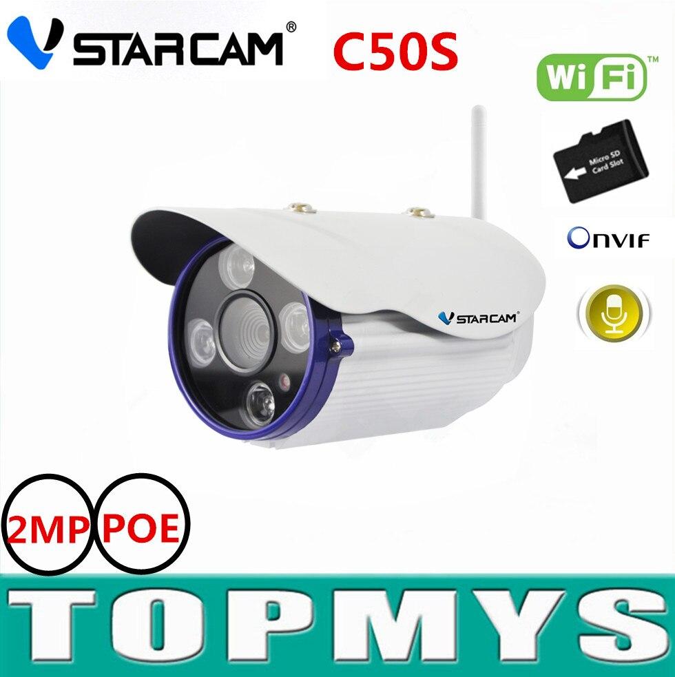 Vstarcam bullet IP camera C50S H.264 IR 50M night vision CCTV camera 1080P FHD wifi IP camera 2MP POE security IP camera<br><br>Aliexpress