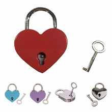 Small Heart/Round Shape Padlock Tiny Luggage Bag Diary Lock Keys Lot of 3