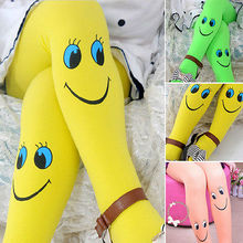 Children Kids Toddler Baby Girls Tights Stockings Velvet Cartoon Face Cute Girl Tights Pantyhose(China)