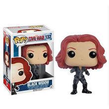 10cm 1PCS Funko Pop Black Widow Civil War Model PVC Action Figure Collection Toy Kids Gifts Come With Retail Box