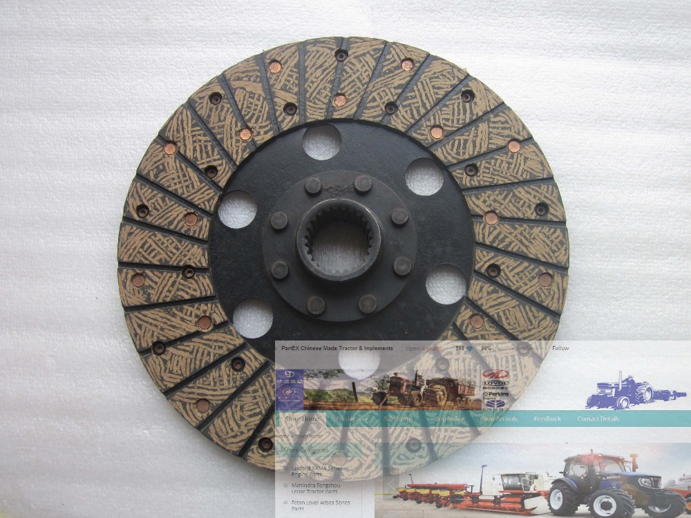 Taishan tractor parts, KM454 the clutch disk sub-assy, part number:400.21S.013<br>