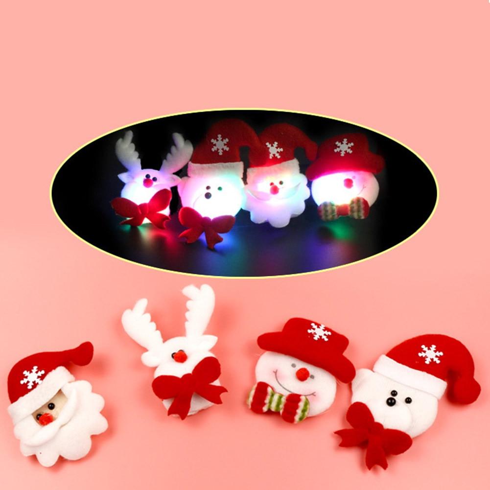 Home & Garden Badges Hoomall Brooch Led Glowing Cartoon Santa Claus Snowman Deer Christmas Brooch Pin Cute Xmas Toy Flag Pin Art Pin
