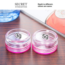 On Sale 3g Cream Jar Plastic Sample Pot 100pcs/lot Eyeshadow Facial Empty Makeup Cosmetic Container Small Packaging(China)