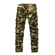 Top Quality Tactical Pants 100% Cotton Casual Mens Cargo Pants Multi Pockets Loose Camouflage Work Pants Fashion Trousers Men 40