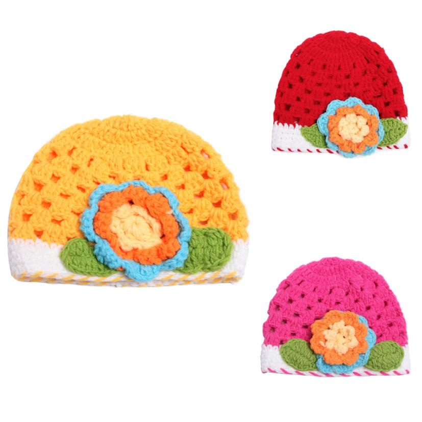 Cute Newborn Baby Girl Boy Flower Photography Prop Photo Crochet Knit Hat Dropshipping #Z30(China)
