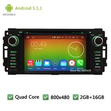 Quad Core Android 5.1.1 WIFI DAB Car DVD Player Radio Stereo Screen For Jeep Wrangler/Chrysler Sebring 300C/Dodge RAM Challenger