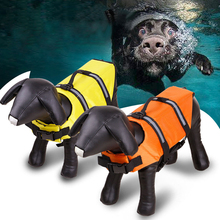 LAPLADOG Safety Clothes Life Vest Collar Harness Saver Reflective Waterproof Oxford Pet Dog Swimming Boating lifejacket Swimwear(China)