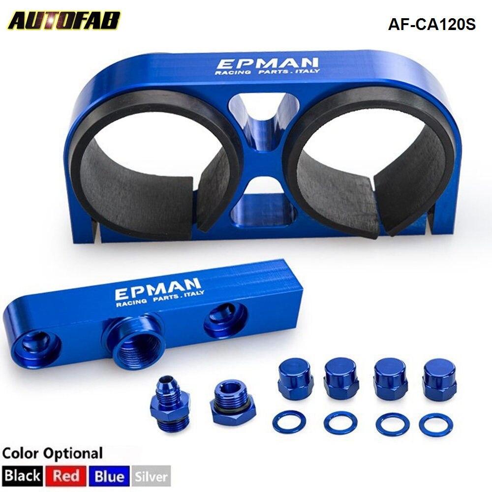 Alloy Dual Fuel Pump Bracket Billet Assembly Outlet Manifold Suits Epman 044 Fuel Pump For honda accord AF-CA120S