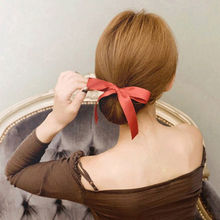 1 pc Designer Bow Riddons Silk Hairbands Quick Messy Donut Bun Hairstyle Headwear Hair Accessories