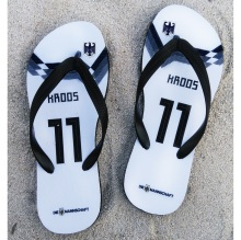 Germany national team soccer Slipper kroos GOTZE and any jersey name Flip flops fans swimming diving Beach shoes(China)