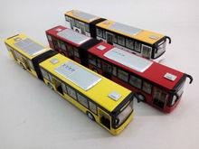 27 cm Alloy double bus, Die cast double Bus Model, with light and sound, pull back car, door open. free shipping