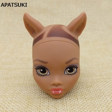 Soft DIY 1/6 Doll Head For Monster High Doll BJD Doll's Practicing Demon Monster Head Without Hair Doll Accessories(China)