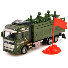 Tibbers Diecast Metal Truck Military Vehicle Pull Back High Simulation Alloy Toys Rocket Missile Cars Models 1:48 Toys For Kids