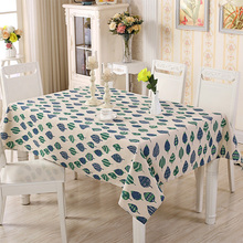 Quality Cotton Linen Table Cloth Small Fresh Leaves Printing Party Tablecloths Coffee Table Cover Home Wedding Toalha De Mesa