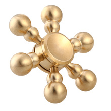 Buy 6 angle bearing size 696 Copper Professional EDC Hand Spinner Torqbar Brass Fidget Toy Fidget Spinner ADHD for $6.37 in AliExpress store