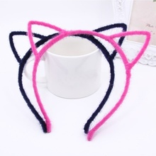 Fine Hairstyle Decor Furry Cat Ear Hair Head Bands Hoop Hair Accessories Headwear
