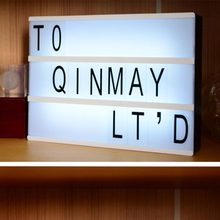Cinematic Light Box 3 LINE BLACK Letters Cards BATTERY USB AND DC Round PORT Energization Mode LED Cinema Lightbox 060964