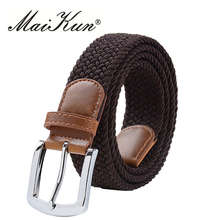 High Quality New Stretch Canvas Belts for Women Elastic Brand Women Belt Military Tactical Belt Luxury Pin Buckle Belt 10(China)