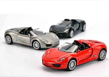 1:32 Scale Diecast Car Model For Porsche 918 High Simulation Plastic Metal Sport Car Model Collection Decoration Birthday Gift