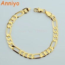 Anniyo Men Chain Bracelets Gold Color and Copper Bangles for Women,Cuba GP Chain & Link Bracelet Jewelry Trendy