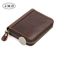 J.M.D cow Leather Unisex Card Holder women Wallets High Quality Female Credit Card Holders men's coin Purse bag wallets 8117