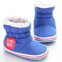 China Brand Baby Boy Boots Winter Warm Non-Slip Newborn Infant First Walkers Soft Comfortable Casual Booties Size3 4 5 Baby Shoe
