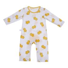 Autumn One Piece Baby Romper Cute Duck Pattern Long Sleeve Jumpsuit Infant Boy Girl Sleepwear Clothing Comfortable Pajamas(China)