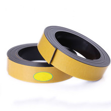 5M Magnetic Stripe 20*1.5MM Rubber Magnets Paste Sided Adhesive Can Cut All Kinds Of Shapes DIY Magnetic Tape For School Home