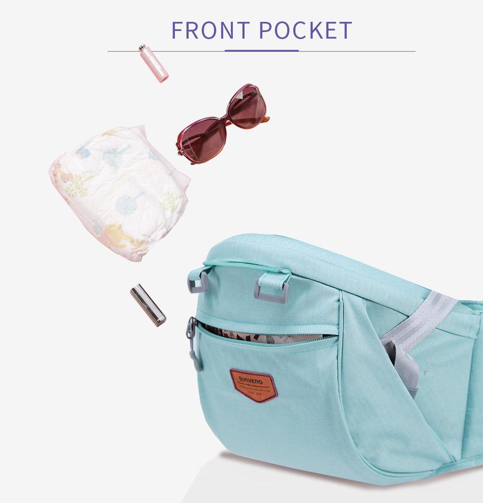 SUNVENO حقيبة وحمالة اطفال 19