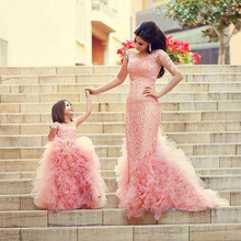 Pageant Communion Girl Dresses 2016 Top Selling Ball Gown Pink Cap Sleeves Flower Girl Dresses Floor Length Kids Evening Gowns