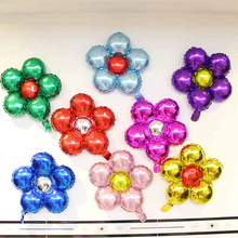 Flower Foil Balloons Wedding Party Inflatable Air For Marriage child  Room Party Layout with all kinds color