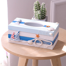 Wooden  Removable Tissue Box Mediterranean Style Fashion Wooden Tissue Box Creative Napkin Box Sitting Room Wooden Napkin Boxes