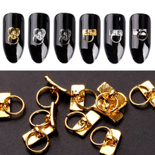 Buy Blueness 20Pcs/Lot Gold Silver Key Chain Design Nails Art Decorations Accessories Manicure DIY UV Gel Rhinestones Alloy Studs for $1.09 in AliExpress store