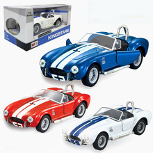 New Ford 1965 Shelby Cobra 427 1/32 Scale Supercar Diecasts & Toy Vehicles Metal Pull Back Car Model Toy For Gift Kids