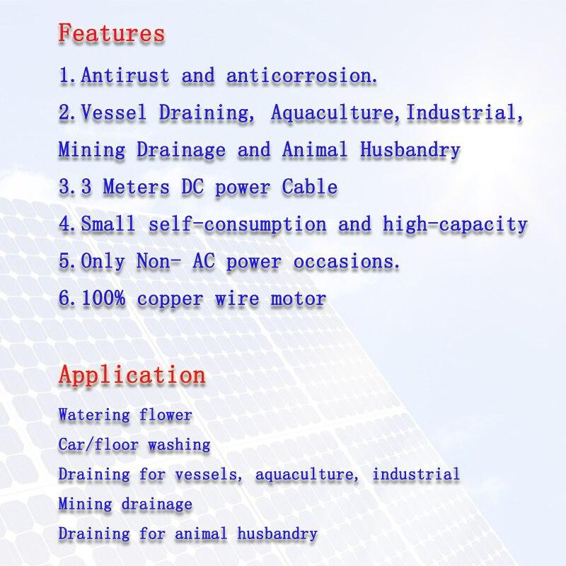 DC Brush Solar Pump-3M