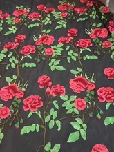 Free shipping (5yards/pc) Hot selling African French net lace fabric with vivid roses embroidery for making party dress  FZZ39