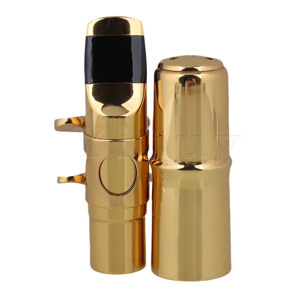 Yibuy Gold plated #7 B-flat Soprano Sax Saxophone Mouthpiece With Ligature<br><br>Aliexpress