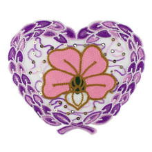 Women clothes deal with it 195mm flower heart sew on patches embroidery girl patch for clothing fashion stickers free shipping(China)