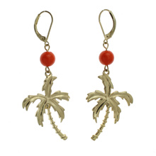 "Trusta 2017 Fashion Gold 1""X2.5"" Coconut Tree Dangle Earring For Girls Lady ZC53 Free Shipping Wholesale Lots Best Quality"