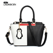 Fashion Women Leather Travel Tote Bag Lovely Shoulder Bag Famous Brand Luxury French Messenger Bag With Monkey Bolso Mujer Sac