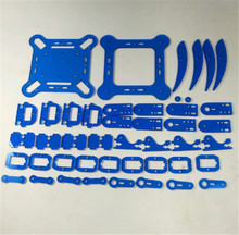 DIY mePed V2 Quadruped Robot acrylic plate kit 3mm blue color acrylic sheet laser cut Meped V2 Quadruped mechanical kit