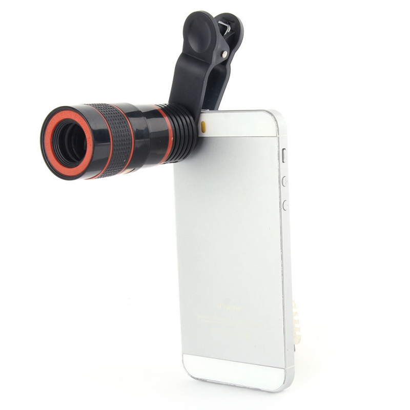 Universal Mobile Cell Phone Lens 8X Zoom Telescope Camera Telephoto Lenses For iPhone 5s 6s 7 Plus Samsung Galaxy S4 S5 S6 S7 S8 2