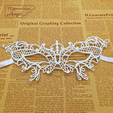 White small butterfly Mask Lace Party Sexy Mask Masquerade Mask Dress Venetian Carnival free shipping